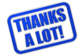 Stempel blau glas THANKS A LOT!