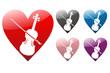Herz mit Geige