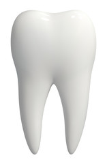 White tooth icon vector isolated
