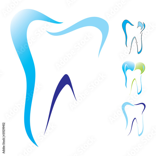 Tooth dental icon set