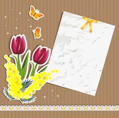 Ticket mimosa tulips