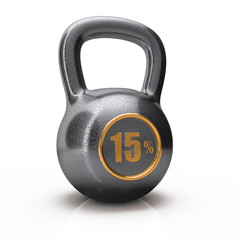 icon weight from 15% fifteen percent is isolated on a white back