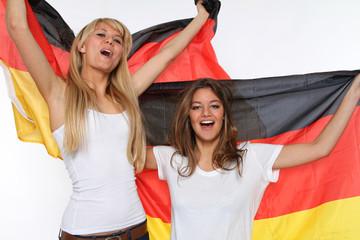 Mädchen mit Deutschland Fahne