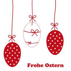 rote ostereier