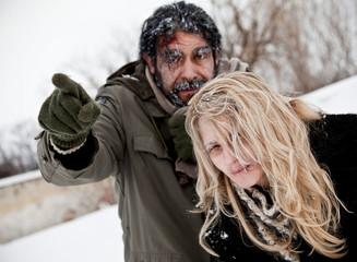 frozen lost couple winter struggle