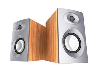 speakers isolated