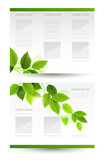 vector design of eco booklet with branch of fresh green leaves poster
