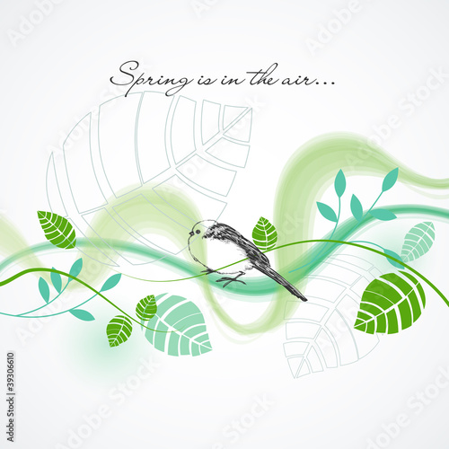 Fresh spring vector background