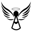Angel icon logo