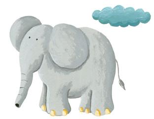Cute elephant standing