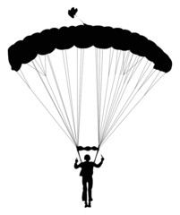 Vector skydiver silhouette