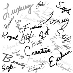 Luxury Handwritten Words