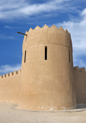 Close view of the eastern tower of Riffa Fort, Bahrain