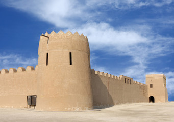 A front view of Riffa Fort looking towards North west