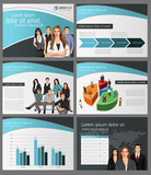 Fototapety Blue template with business people