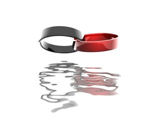 Ringe schwarz rot