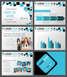 Black and blue template with business people