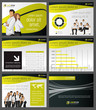 Yellow and black template with business people