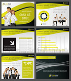 Fototapety Yellow and black template with business people