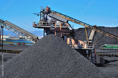 canvas print picture coal industry