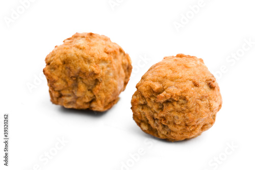 Meat balls on a white background