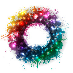 shiny and colorful abstract artistic background