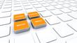 Quader Konzept Orange - Beratung Kompetenz Qualität Service 4