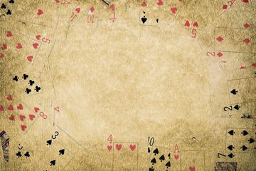 Fondo, textura, naipes, marco, juego, poker, suerte