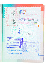 Immigration stamps Philippines and Vietnam.