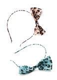 Headdress accessories Leopard Print Wire Bow poster