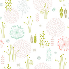 seamless background with abstract floral ornament