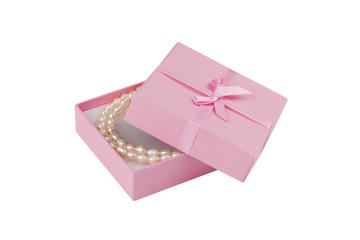 Geschenk mit Perlenkette; Beschneidungspfad