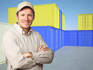 worker and container