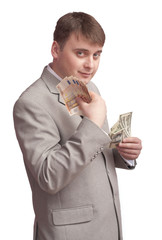 a man with money