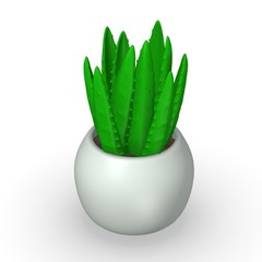 3d render of aloe plant