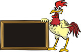 encourages cock - blank board poster