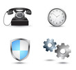 Business website icon set