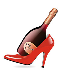 Red Champagner & Highheels