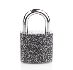 Modern padlock isolated on white