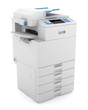 modern office multifunction printer isolated on white background - 39332295