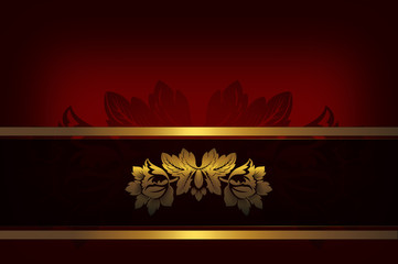 Decorative background with golden flower