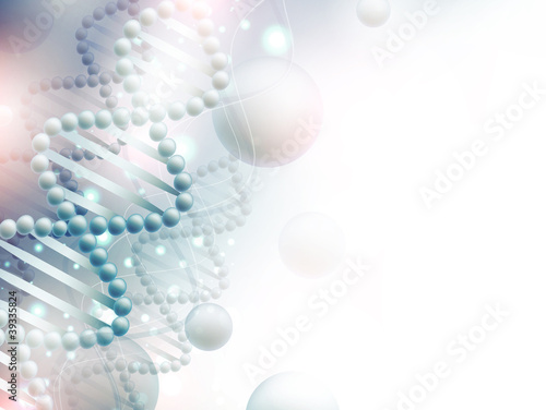 science background with DNA
