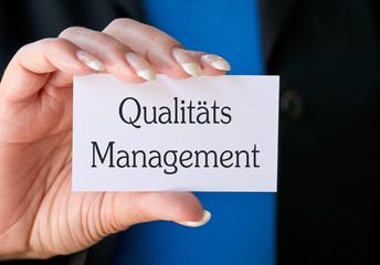 Qualitätsmanagement