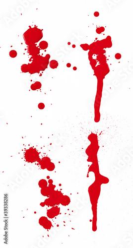 Fotobehang Vormen Blood Spatter I