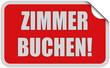 Sticker rot rund curl unten ZIMMER BUCHEN!