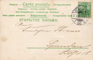 Die alte Postkarte 1901