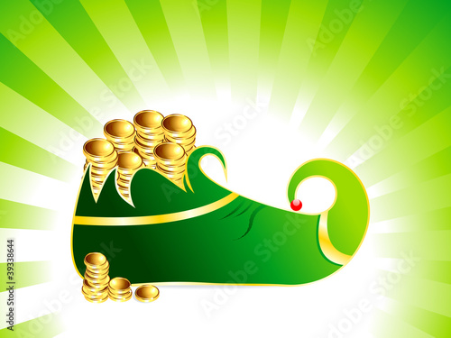 st patrick's  leprechaun shoes with coin