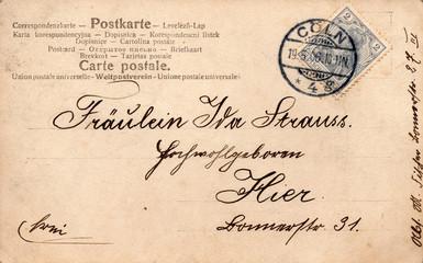 Die alte Postkarte 1906