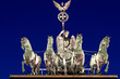 The Quadriga on top of the Brandenburger Tor in Berlin at night