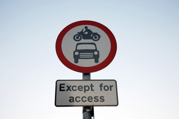 Road sign warning